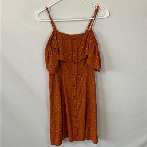 NWT target rust color cold shoulder dress